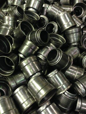 A picture of spun metal items
