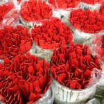 Red powder coated parts